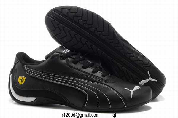 basket puma cuir marron